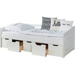 TiCAA Sofabett Micki 90x200 Buche Weiß