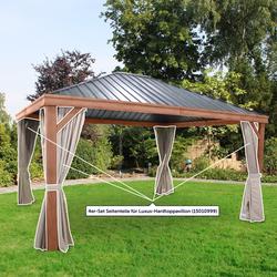 Leco 4er-Set Seitenteile für Luxus-Hardtoppavillon (15010999),natur,