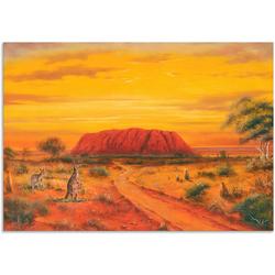 Artland Wandbild Australisches Tal, Australien (1 Stück) 100 cm x 70 cm