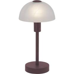 Brilliant Amira 77347/20 Tischlampe Halogen E14 40W Braun, Weiß