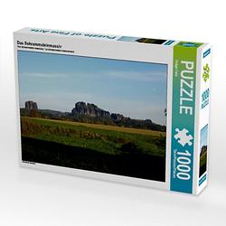Das Schrammsteinmassiv Lege-Größe 64 x 48 cm Foto-Puzzle Bild von Holger Felix Puzzle