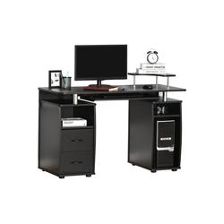 HOMCOM Computertisch Computertisch mit Stauraum