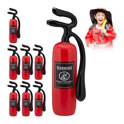 8 x Feuerlöscher aufblasbar, Kinderfeuerlöscher rot, Feuerwehrlöscher Spielzeug