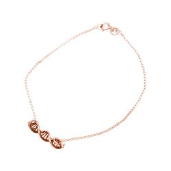 Gemshine Charm-Armband DNA Doppelt Helix Molekül, Made in Spain rosa