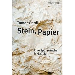 Stein Papier als Buch von Tomer Gardi