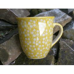 Pott, 400 ml, Ø 10,5 cm, ↑ 11 cm, Bunzlau gelb, BSN J-1066