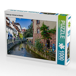 Freiburger Altstadt mit Bächle Lege-Größe 64 x 48 cm Foto-Puzzle Bild von Prime Selection Kalender Puzzle