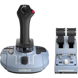 Thrustmaster TCA Officer Pack Airbus Edition Joystick USB PC Blau, Schwarz inkl. Schieberegler