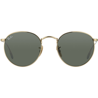 Ray Ban Round Metal RB3447 001 50-21 polished gold/green classic