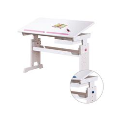 Inter Link Schreibtisch Schreibtisch BARU, höhenverstellbar, weiß,