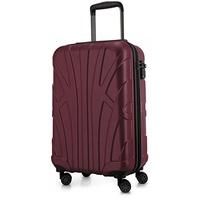 suitline Handgepäck Hartschalen-Koffer 35 Liter, Burgund