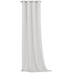 Vorhang Ronja, Weckbrodt, Ösen (1 Stück), abdunkelnd grau 135 cm x 245 cm