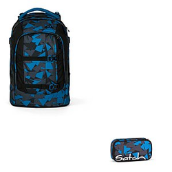 Satch Pack Blue Triangle Schulrucksack Set 2 tlg.