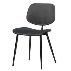 Esstisch Stühle in Grau Samt Metallgestell (2er Set)