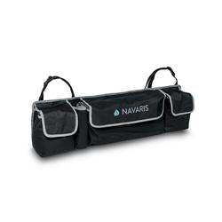 Navaris Etui, Auto Kofferraum Organizer Tasche - 89 x 25 x 12cm - 4 Fächer - verstellbare Gurte - KFZ Rücksitz Kofferraumtasche - Kofferraumbox schwarz