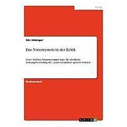 Das Notensystem in der Kritik. Nils Hübinger  - Buch