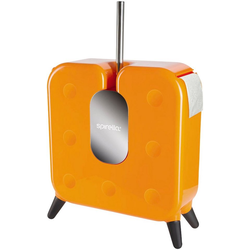 WC-Garnitur CUBE, spirella, WC-Bürste und Toilettenpapierhalter 2 in 1, orange
