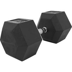 Hexagon Kurzhantel aus Gummi 45 kg