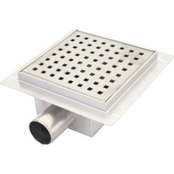 Duschablauf MCW-D95c, Bodenablauf Abflussrinne Bad, Edelstahl Siphon ~ 20x20cm