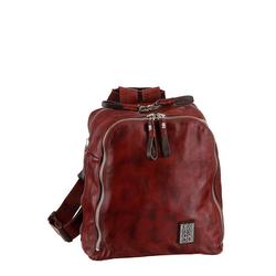 A.S.98 Cityrucksack, aus hochwertigem Leder im Used Look rot