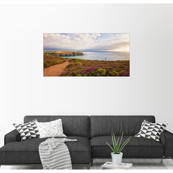 Posterlounge Wandbild, Küstenpfad 160 cm x 80 cm