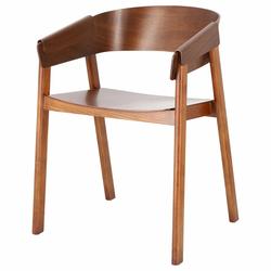 Krzesło drewniane Heikie brązowe