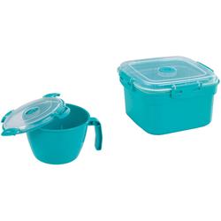 WENKO Mikrowellenbehälter, Kunststoff, (Set, 2-tlg)