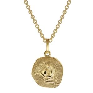 trendor 75905-02 Sternzeichen für Kinder Wassermann Gold 333 Anhänger + Kette