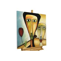 KUNSTLOFT Gemälde Amorous Walk, handgemaltes Bild auf Leinwand