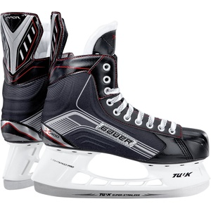 BAUER - Vapor X400 Senior Eishockeyschlittschuhe für Herren I Herrenschlittschuh I Profi-Schlittschuhe mit Fersen- & Knöchelunterstützung I Mittelfuß-schutz I speziell wärmendes Fußbett - Schwarz