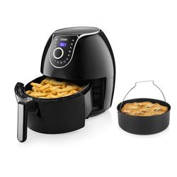 PRINCESS Heissluftfritteuse, 1700 W, XXL Heißluftfritteuse Umluft Crispy Fryer, Fritöse mit Brotbackform, Pommes fettarm frittieren ohne Öl, 5,2 Ltr. 1700 Watt