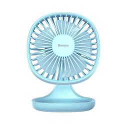 Baseus Tischventilator Baseus Ventilator Cooling Fan Schreibtisch Tischventilator USB Lüfter Ein / Aus Schalter für Schreibtisch Büro Laptop Computer Powerbank Netzstecker blau