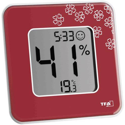 TFA Dostmann Style Thermo-/Hygrometer Rot
