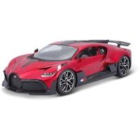 BBURAGO Bugatti Divo: Modellauto im Maßstab 1:18, Türen und Motorhaube zum Öffnen, 25 cm, rot (18-11045R)