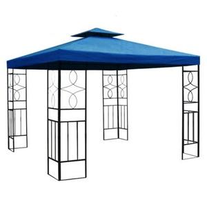 habeig WASSERDICHTER Pavillon Romantika 3x3m Metall inkl. Dach Festzelt wasserfest Partyzelt (Marineblau)