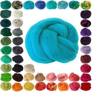 25g Filzwolle Märchenwolle Nassfilzen Trockenfilzen, unterschiedliche Farben, Farbe:türkis