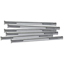 RORO TÜREN & FENSTER Dübel-Set Metall, 182 mm, 6 Stück grau