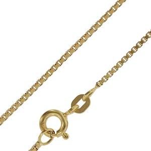 trendor 50873 Goldkette für Damen und Herren Venezianer Kette 585 Gold, 42 cm