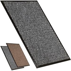 Fußmatte Außen Fussmatte Innen | Große Schmutzfangmatte | Teppich Flur | Türvorleger Fussmatten Haustür | Saugfähige Fußmatte für Ihr Haus oder Ihr Büro | Fussmatte Teppich Grau 80x120 cm