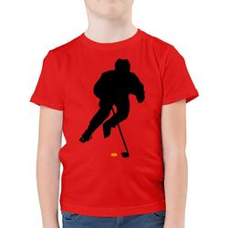 Shirtracer T-Shirt Eishockey Spieler - Eishockey - Jungen Kinder T-Shirt - T-Shirts eishockey trikot 128 (7/8 Jahre)