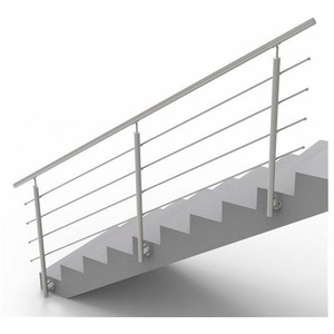 Handlauf Treppengeländer Brüstung Treppe Bausatz Edelstahl Wandmontage 3m