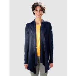 Dress In Strickjacke in asymmetrischer Form blau 46