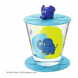 LEONARDO Kinderbecher Bambini Elefant, Glas blau