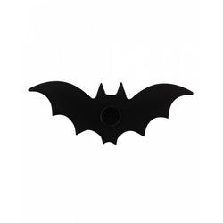 Horror-Shop Kerzenständer Schwarze Fledermaus als Kerzenhalter als Gothic Wo