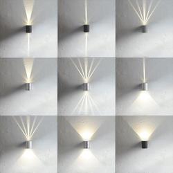 Baleno LED-Wandleuchte IP44 mit Lichtfilter Schwarz