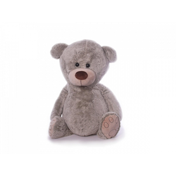 inware Kuscheltier Teddybär groß 60 cm grau Glücksbär (Stoffteddybären groß Plüschteddybären, Stoffteddys, Stofftiere gro)