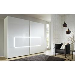 Mondo Schwebetürenschrank 4015 in weiß B/H ca. 319 x 223 cm
