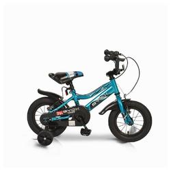 Byox Kinderfahrrad Kinderfahrrad 12 Zoll Prince, 1 Gang 1 Gang, keine, blau, Stützräder, Kettenschutz, sportliches Design