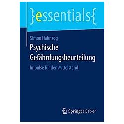 Psychische Gefährdungsbeurteilung. Simon Hahnzog  - Buch