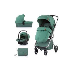 Chipolino Kombi-Kinderwagen Kombikinderwagen Piruet 3 in 1, Babyschale Sitz 360° drehbar Tragetasche